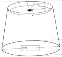 楕円形円錐